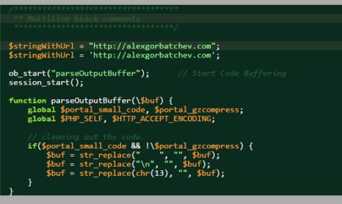 ソースコードの表示には  SyntaxHighlighter: blogger