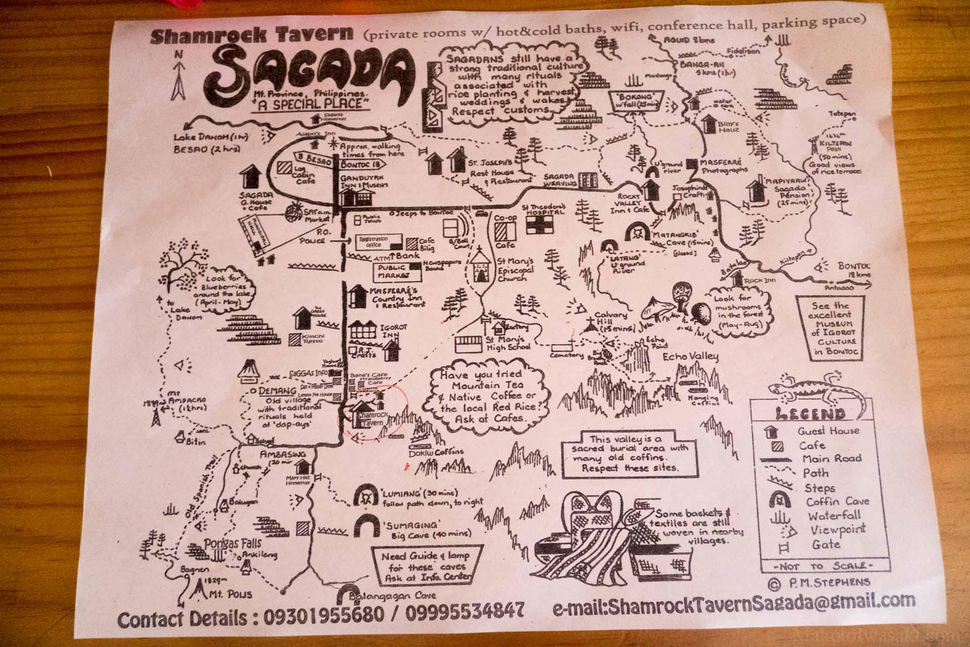 Sagadaエコーバレーのハイク