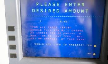 フィリピンATM手数料は200ペソ=500円