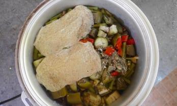 今日のご飯  ข้าววันนี้ with Eggplant and Tofu 豆腐