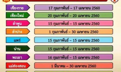 タイの野焼き禁止期間  No Burning Period in Northern Thai