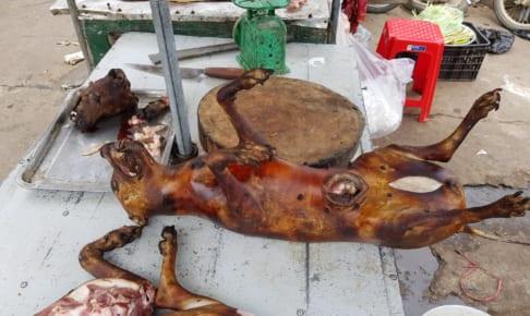 犬の丸焼き Vinh の市場