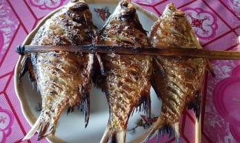 ラオスの食は炭火串焼きとカオニョウにあり