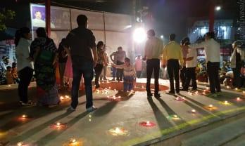 アグラ の Diwali 前夜