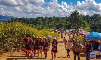 ドイ・フア・メーカムのブアトン花祭 Doi Hua Mae Kham Buatong Flower Festival 2018