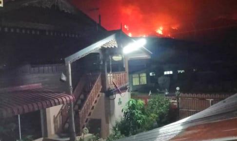 メーチャンの山火事でチェンライ煙害悪化、ラノーン疎開