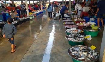 フルーツ鮮魚が安いパクディ市場: ラノン