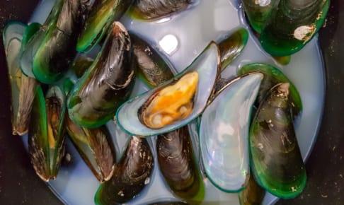 緑ムール貝の蒸しあげ