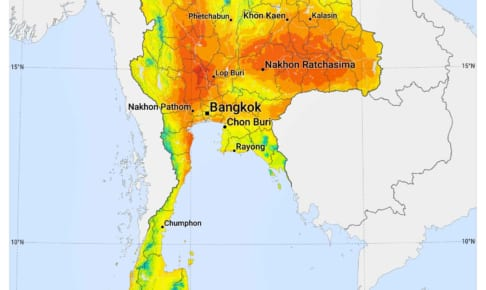 日照時間と雨量の関係比較・ラノーン