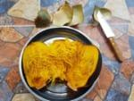 橙色の黒椰子の中身は、お菓子カノンタンになる